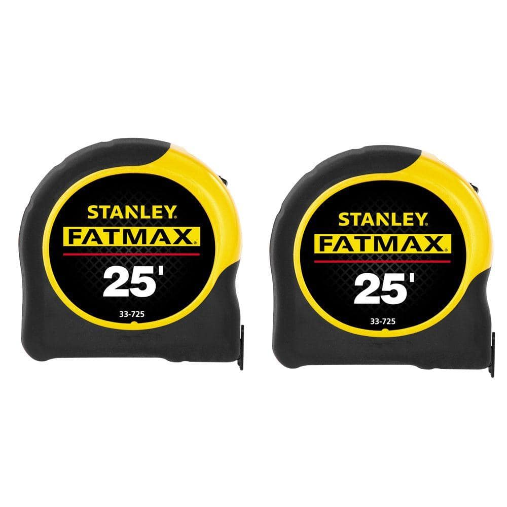 Stanley FatMax 2 Pack 25' Tape Measure $15 Home Depot