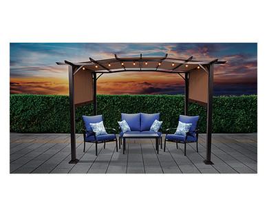 Gardenline Pergola Gazebo 11.5' x 9' With Heavy Duty Frame Aldi B&M $149