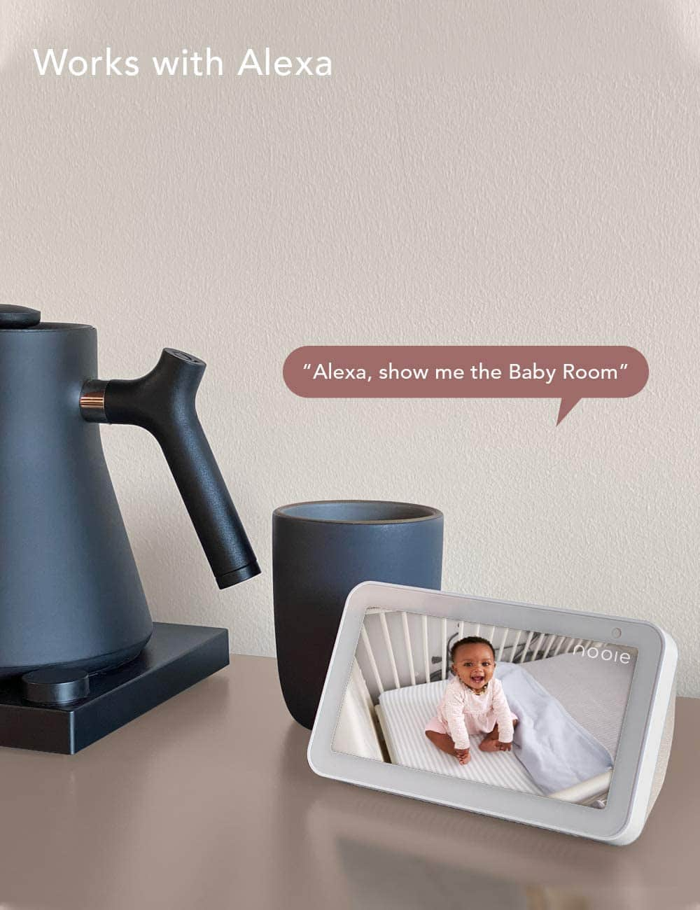 Amazon offers 59% Off On Nooie Baby Monitor WiFi Camera Indoor, 360-degree Wireless 1080P Home Security Camera with Motion Tracking with Nigh Vision and Works with Alexa.$32.78