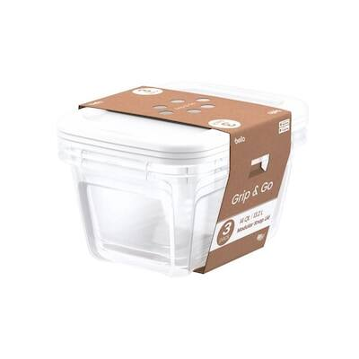 Bella Storage 3-pack (14qt) or 8-pack (6.25qt) storage totes- $3.74 at Lowe's (store pick-up) YMMV