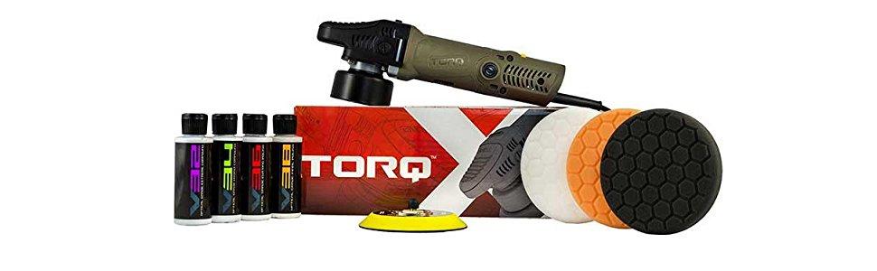 TORQ BUF501X 10FX Random Orbital Polisher Kit (Polisher + 9 Items) - $161.00 @ Amazon