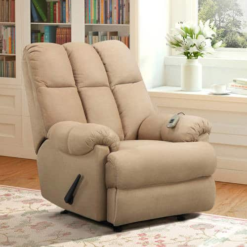 Dorel Living Padded Massage Rocker Recliner for $171 with free shipping