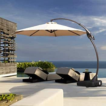 Grand patio Deluxe Napoli 11 FT Curvy Aluminum Offset Umbrella @amazon $200+tax with code