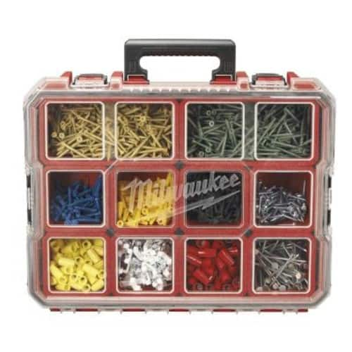 Milwaukee 10-Compartment Red Deep Pro Small Parts Organizer @ Home Depot $19.97