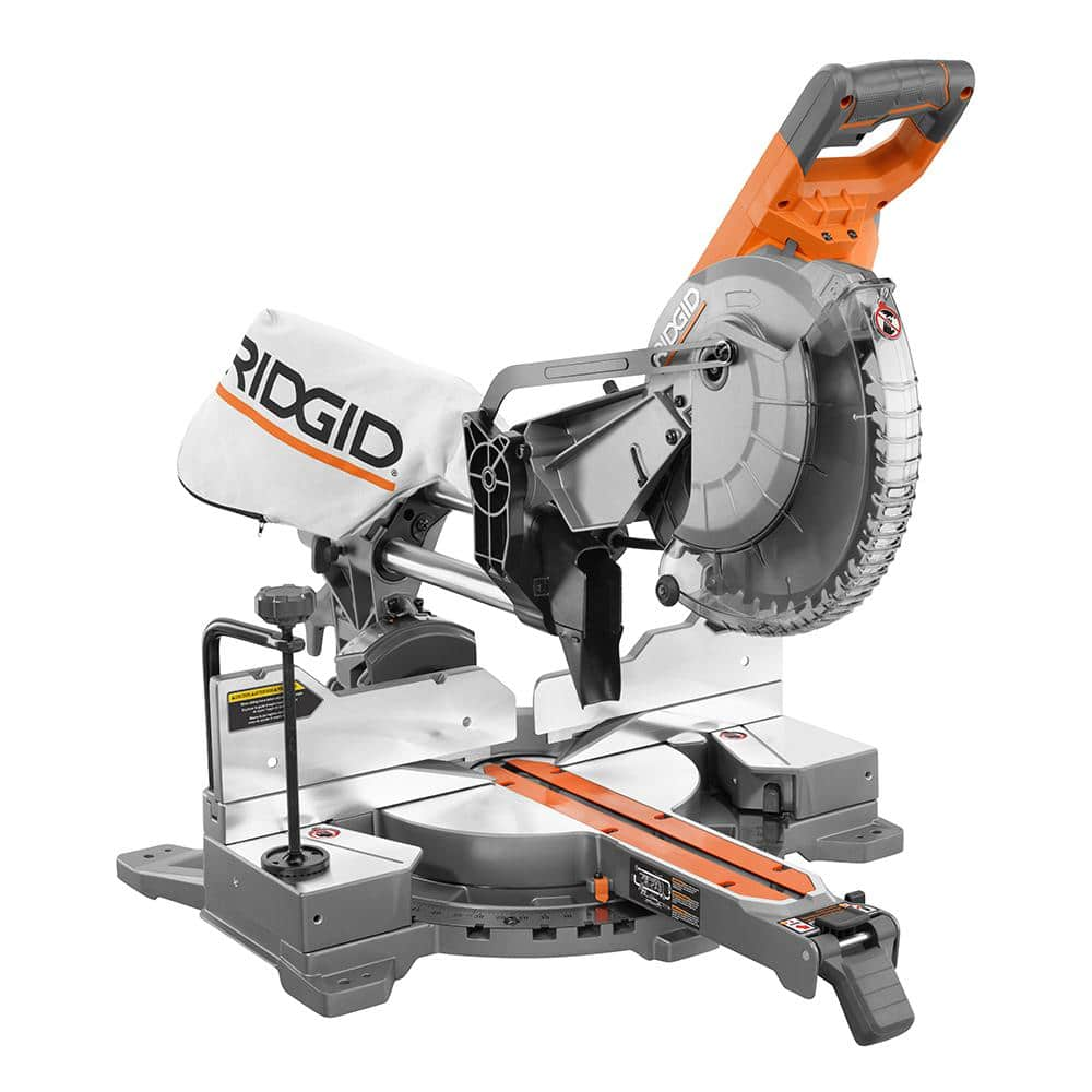 $308.00 - Rigid 10 in. Corded Dual Bevel Sliding Miter Saw with 70° Miter Capacity Home Depot B&M YMMV