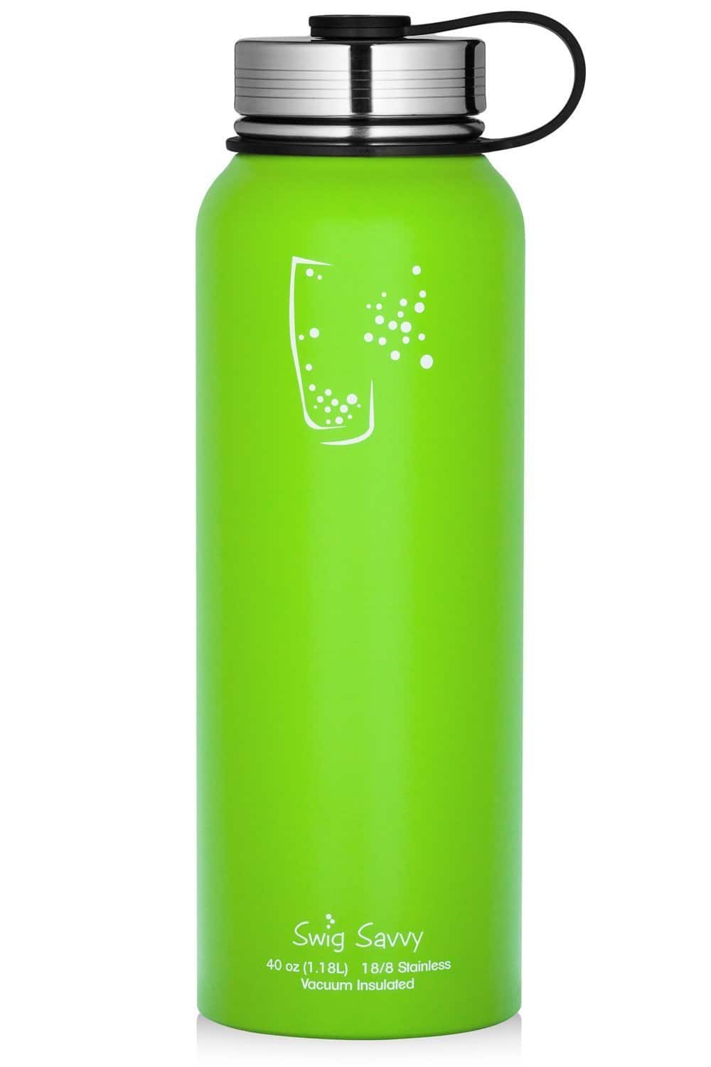 Swig Savvy Stainless Steel Water Bottle - Vacuum Insulated 30oz  for $7.03