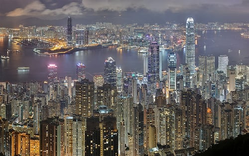 ~$550 for a round trip ticket from San Francisco (SFO) to Hong Kong (HKG)