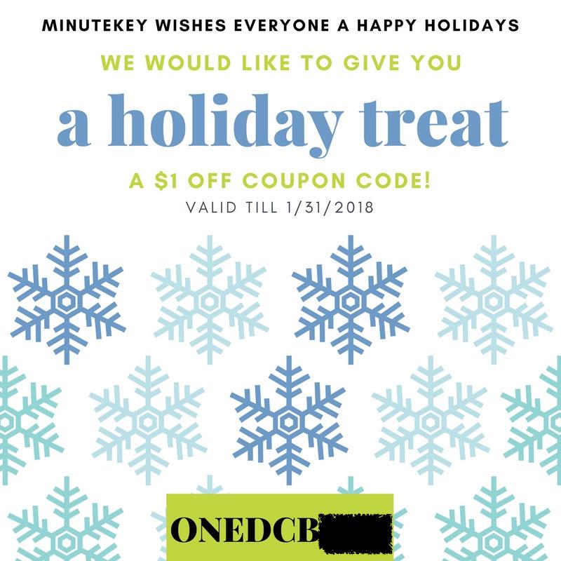 MinuteKey Coupon Code sent via email $1