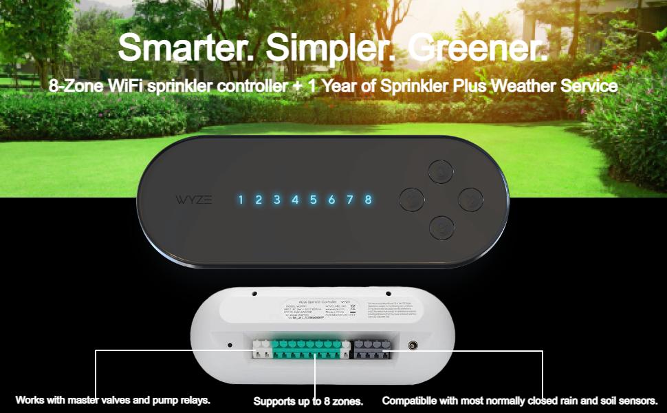 WYZE Sprinkler Controller, 8-Zone WiFi Smart Sprinkler Controller $43.48