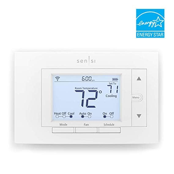 Emerson Sensi Wi-Fi Thermostat for Smart Home, DIY Version, Works with Alexa, Energy Star Certified 20% Coupon $83.16