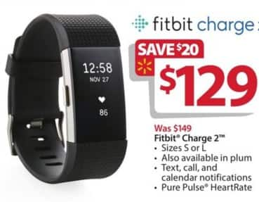 Walmart Black Friday: FitBit Charge 2 for $129.00