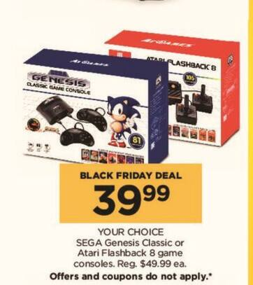 Kohl's Black Friday: Sega Genesis Classic Console for $39.99