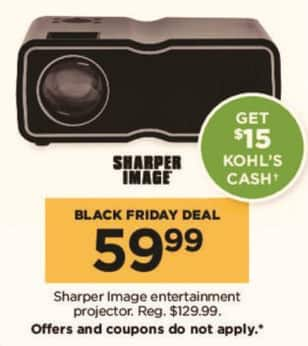 Kohls Black Friday Sharper Image Entertainment Projector 15