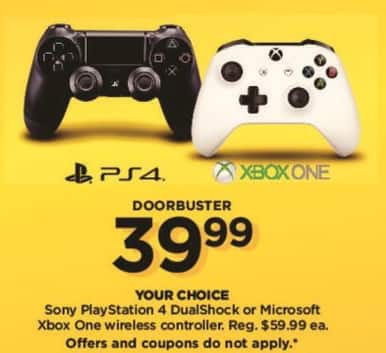 Kohl's Black Friday: Sony PlayStation 4 DualShock Controller for $39.99