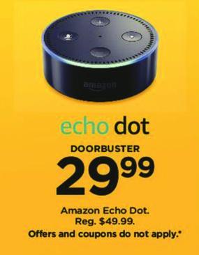 Kohl's Black Friday: Echo Dot for $29.99