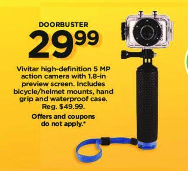 Kohl's Black Friday: Vivitar HD 5MP Action Camera Bundle for $29.99