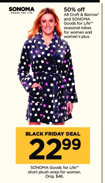 Kohl's Black Friday: Sonoma Goods For Life Short Plush Wrap for $22.99