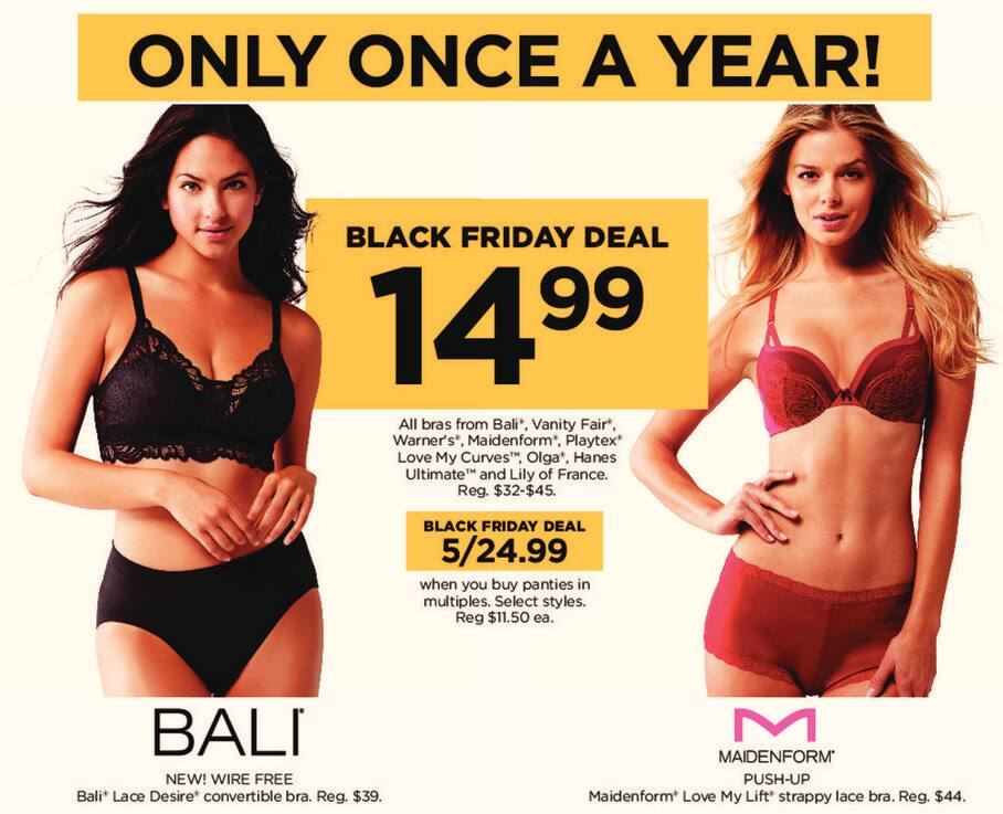 bc3b63aa0a1 Kohl s Black Friday  Maidenform Push-Up Maidenform Love My Lift Strappy  Lace Bra for  14.99