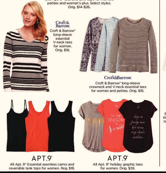 Kohl's Black Friday: All Apt. 9 Essential Seamless Camis and Reversible Tank Tops for $4.99