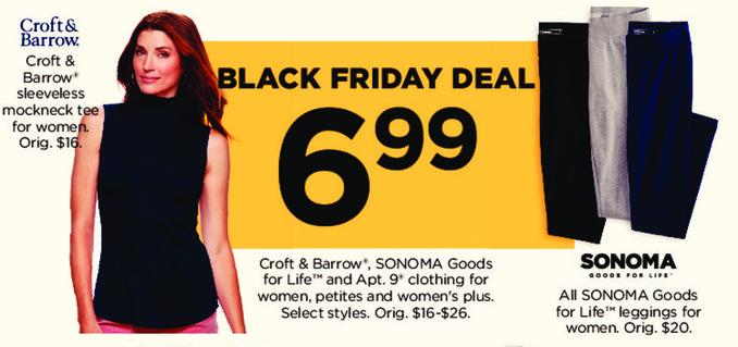 Kohl's Black Friday: Croft & Barrow Sleeveless Mockneck Tee for $6.99