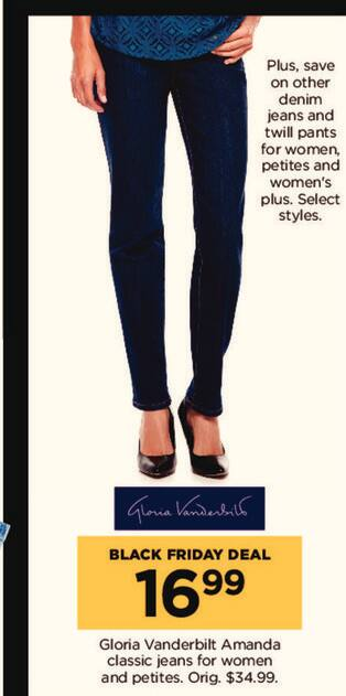 Kohl's Black Friday: Gloria Vanderbilt Amanda Classic Jeans for $16.99