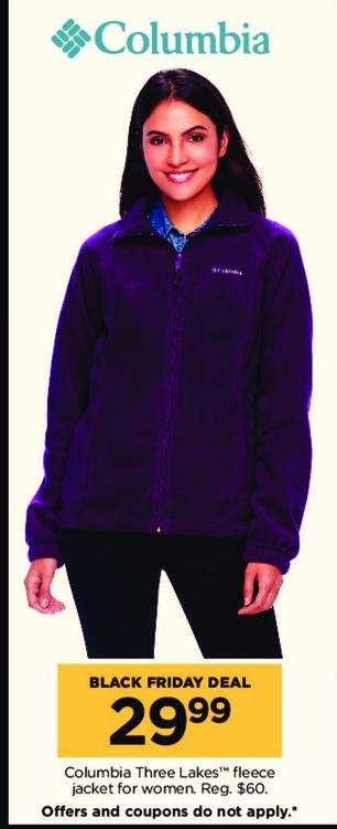 Kohl's Black Friday: Columbia Three Lakes Women's Fleece Jacket for $29.99