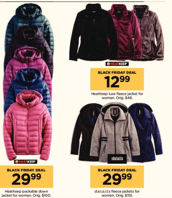 Kohl's Black Friday: HeatKeep Luxe Fleece Jacket for $12.99