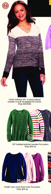 Kohl's Black Friday: Mudd Juniors Cozy Cross-Front Tunic for $9.99