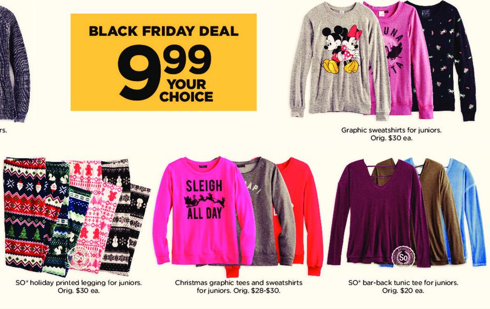Kohl's Black Friday: Juniors Graphic Sweatshirts for $9.99