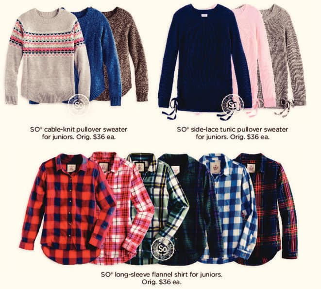 Kohl's Black Friday: Juniors So Cable-Knit Pullover Sweater for $9.99