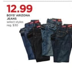 JCPenney Black Friday: Boys' Arizona Jeans (Select Styles) for $12.99
