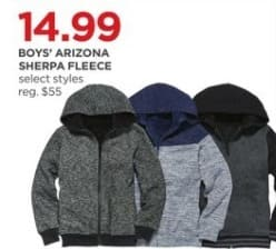 JCPenney Black Friday: Arizona Boys Sherpa Fleece (Select Styles) for $14.99