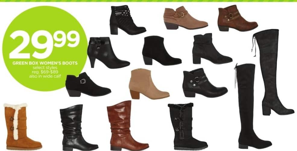 f1b0feb4f9be JCPenney Black Friday  Womens Green Box Wide Calf Boots (Select Styles) for   29.99
