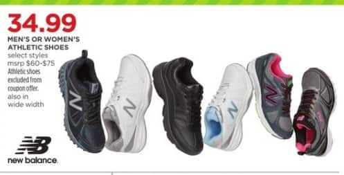 90ba44a12d01c JCPenney Black Friday  New Balance Men s Or Women s Athletic Shoes (Select  Styles) for  34.99