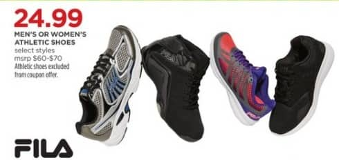 JCPenney Black Friday: Fila Men's Or Women's Athletic Shoes (Select Styles) for $24.99