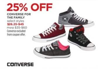 JCPenney Black Friday: Converse For The Family (Select Styles) for $26.25 - $45.00