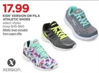 JCPenney Black Friday: Xersion or Fila Kids Athletic Shoes (Select Styles) for $17.99