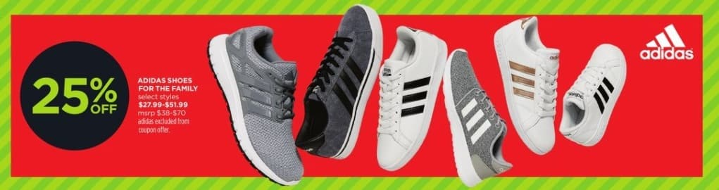 JCPenney Black Friday: Adidas Shoes For The Family (Select Styles) for $27.99 - $51.99