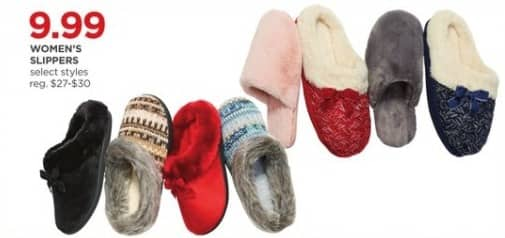 JCPenney Black Friday: Women's Slippers (Select Styles) for $9.99