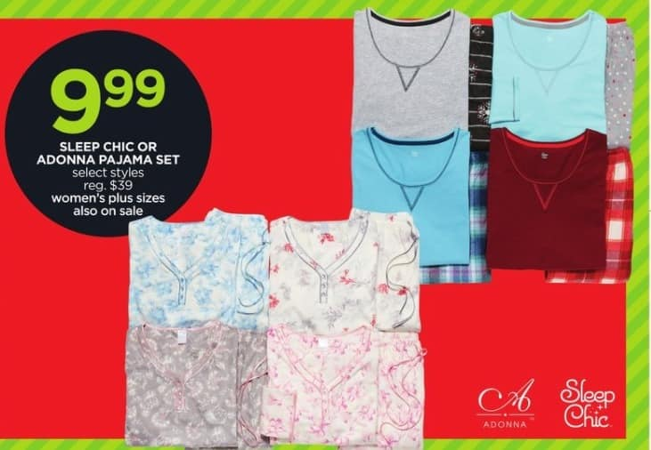JCPenney Black Friday: Sleep Chic Or Adonna Women's Pajama Set (Select Styles) for $9.99