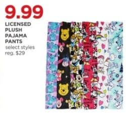 JCPenney Black Friday: Licensed Plush Womens Pajama Pants (Select Styles) for $9.99