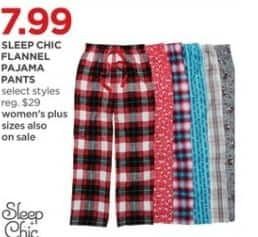 JCPenney Black Friday: Sleep Chic Women's Flannel Pajama Set (Select Styles) for $7.99