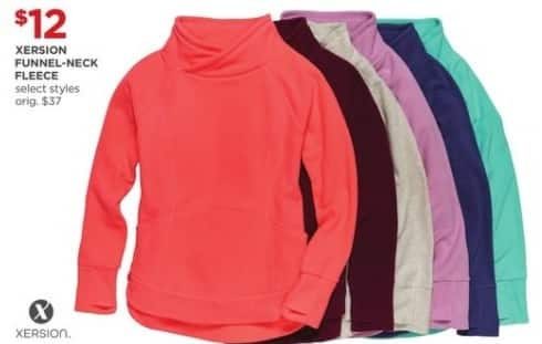 JCPenney Black Friday: Xersion Women's Funnel-Neck Fleece (Select Styles) for $12.00