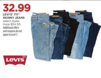 JCPenney Black Friday: Levi's 711 Women's Skinny Jeans, Select Styles for $32.99