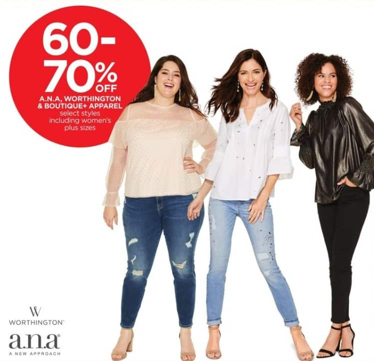 JCPenney Black Friday: A.N.A. , Worthington, And Boutique + Women's Apparel, Select Styles - 60-70% Off