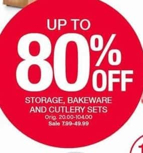 Belk Black Friday: Storage, Bakeware, And Cutlery Sets, Select Brands and Styles - Up to 80% Off