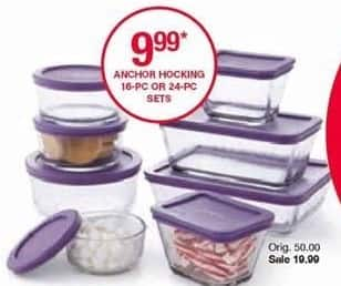 Belk Black Friday: Anchor Hocking 16-pc. or 24-pc Sets for $9.99 after $10.00 rebate