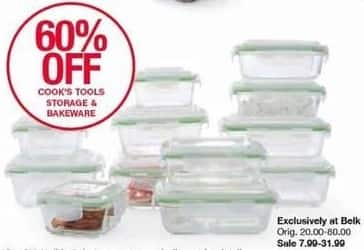 Belk Black Friday: Cook's Tools Storage & Bakeware, Select Styles - 60% Off