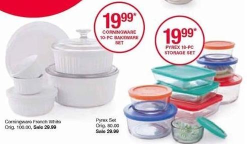 Belk Black Friday: Corningware 10-pc. Bakeware Set for $19.99 after $10.00 rebate