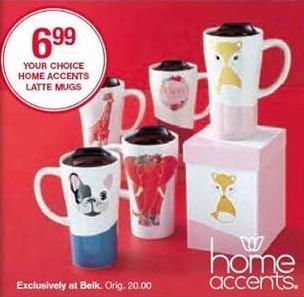 Belk Black Friday: Home Accents Latte Mugs for $6.99